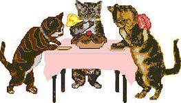 кошки за столом