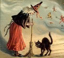 ведьма и кошка