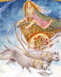 кошки в колеснице