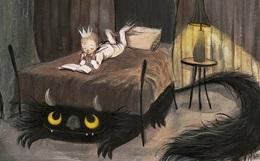 страшный кот под кроватью