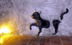 кот привидение