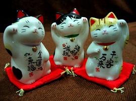 кошки с поднятыми лапами