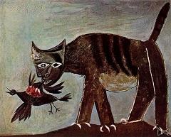кот и птица Пикассо