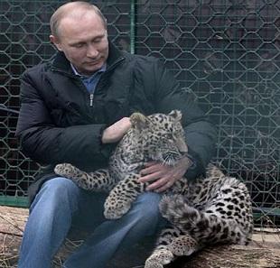 Путин с Барсиком.