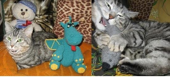 Кешка и вязанные игрушки